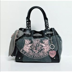 Juicy Couture Daydreamer Pink Scottie Velour Bag